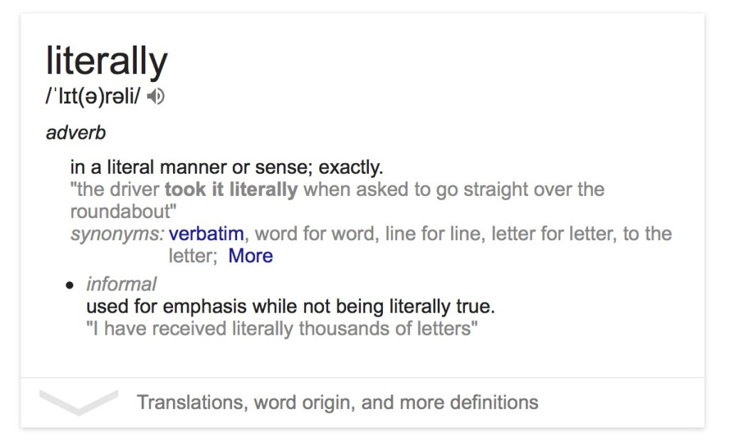 Still raging out over 'literally'? You're now figuratively living in the past